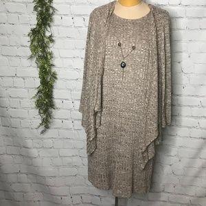 Dress Barn Plus 18 Cardigan Dress Necklace Set